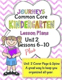 Kindergarten K Lesson Plans Journeys Common Core Unit 2 Le