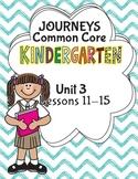 Kindergarten K Lesson Plans Journeys Common Core Unit 3 Le