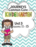 Kindergarten K Lesson Plans Journeys Common Core Unit 3 Le