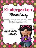 Kindergarten Made Easy {HUGE Monthly Pack Bundle}