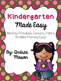 Kindergarten Made Easy {HUGE Monthly Pack Bundle}