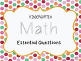Kindergarten Math Essential Questions {Common Core}
