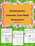 Kindergarten Math Homework That Follows Common Core-Zaner
