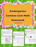 Kindergarten Math Homework That Follows Common Core-Zaner