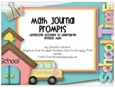 Kindergarten Math Journals (Label size for Envision Math 2011)