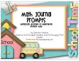 Kindergarten Math Journals (Label size for Envision Math 2011)