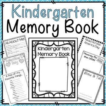 Kindergarten Memory Book {Printer Friendly}
