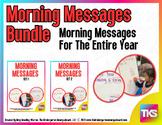 Kindergarten Morning Messages BUNDLE!  A Morning Message C