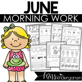 Kindergarten Morning Work {June}