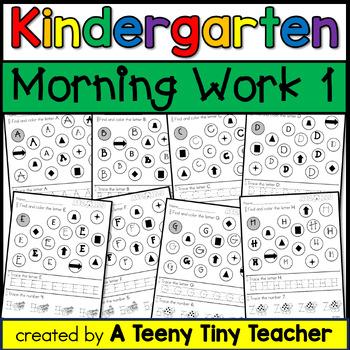 Kindergarten Morning Work {The Beginning}