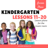 Kindergarten Music Lessons, #11-20