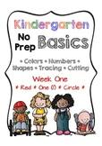 Kindergarten NO PREP Basics {Week 1}