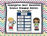 """Kindergarten Next Generation Science Standards Posters- """"K"""