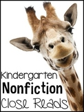 Kindergarten Nonfiction Close Reads {20 Weeks Included}
