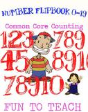 Kindergarten Number Flipbook 0-19