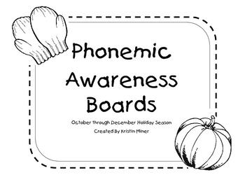 Kindergarten Phonemic Awareness Holiday Boards