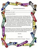 Kindergarten Questionnaire