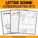 Kindergarten RTI - Letter Sounds (English)