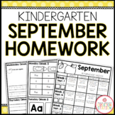 Homework Packet: Kindergarten | September