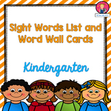 Kindergarten Sight Words List and Word Wall Cards