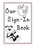 Kindergarten Sign In Book