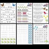 Kindergarten Spring Math / Lit Worksheets and Activities