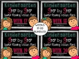 Kindergarten Step by Step Guided Reading Plans: Weeks 17-2