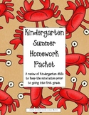 Kindergarten Summer Homework Packet