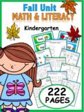 Kindergarten Fall Resource Packet {common core aligned}