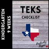 Kindergarten TEKS Checklist - 2014-15 (9 Week Checks)