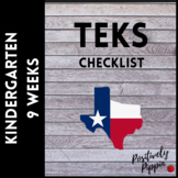 Kindergarten TEKS Checklist - 2014-15 (9 Week Checks)