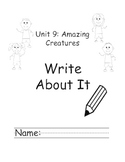 Kindergarten Treasures Unit 9 Write About it Journals