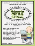 Kindergarten Unit 11 CORE Math Unit