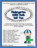 Kindergarten Unit 2 Core Math