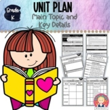 Kindergarten Unit Plan: Main Topic and Key Details