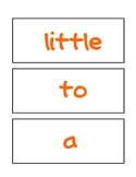 Kindergarten Word Wall Words
