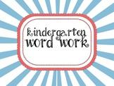 Kindergarten Word Work- D'Nealian Print
