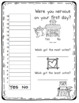 Kissing Hand First Day Back to School Activity Pack
