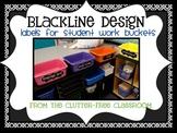 LABELS FOR STUDENT WORK BASKETS, EDITABLE - {Blackline Des