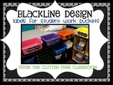 LABELS FOR STUDENT WORK BASKETS, EDITABLE - {Blackline Des