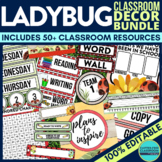 LADYBUGS Classroom Theme EDITABLE Decor-34 Printable Produ