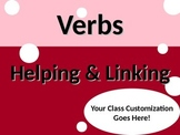 ELA VERBS Helping & Linking PowerPoint PPT