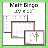 LCM and GCF Bingo