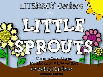 LITERACY Centers for Little Sprouts {Plants - Common Core