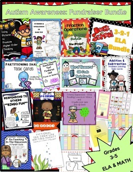 LITERACY & MATH BUNDLE 2 - Grades 3-5 - Autism Awareness F