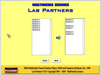 Classroom Tool - Lab Partners Software