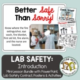 Lab Safety Interactive Notebook Activity, Contract, PowerP