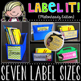 Label It! {Melonheadz Chevron Edition - Editable Classroom