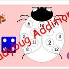 Ladybug Addition Dice Game - SMARTBoard and Paper Versions
