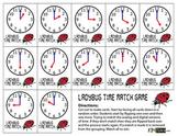 Ladybug Time Memory Match Card Game - HOUR Version